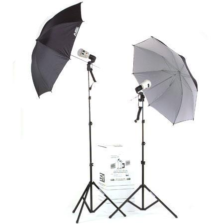 Smith Victor KFU Light AC Slave Master Flash Thrifty Umbrella Flash Kit 175 - 160