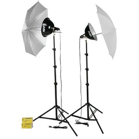 Smith Victor KTU watt Photoflood Light Kit Umbrellas 95 - 253