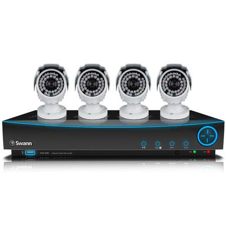 Swann Channel D DVR GB Hard Drive andTV Cameras Up to m Night Vision fps Recording Per Channel nm IR 373 - 157