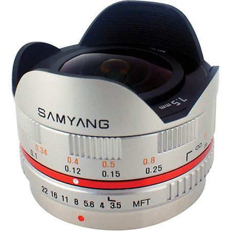 Samyang f UMC Ultra Wide Angle Fisheye MFT Lens Silver 98 - 454
