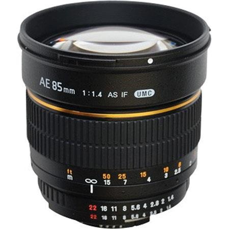 Samyang f Aspherical Lens Nikon Focus Confirm Chip Manual Focus 72 - 615