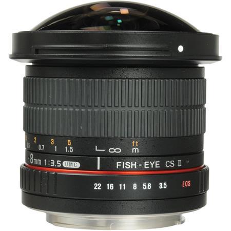 Samyang f HD Fisheye Lens Removable Hood Canon 518 - 53