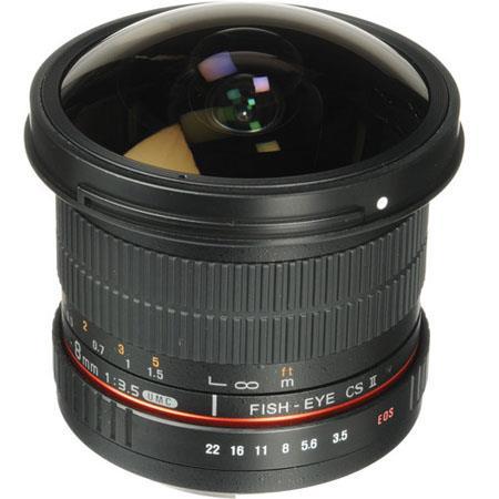 Samyang f HD Fisheye Lens Removable Hood Sony deg Angle of View 39 - 460