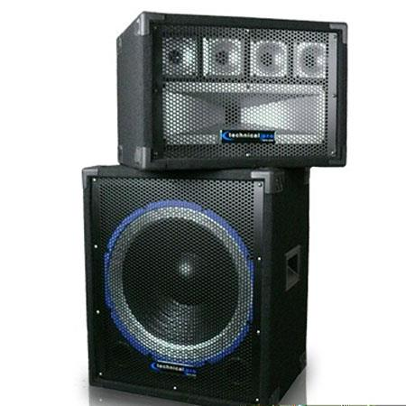 Technical Pro HILOW Carpeted Subwoofer and Tweeter BoCombo 13 - 433
