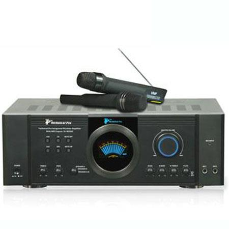 Technical Pro Integrated Amp Dual Wireless Mics hz to kHz Frequency Response W Peak Power  13 - 433