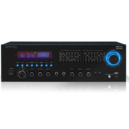 Technical Pro RXURI Professional Receiver USB SD Card Inputs Built In Band Equalizer FM Manual Tuner 133 - 253