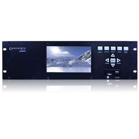 Technical Pro VSCREEN Rack Mountable Video Monitor USB SD Card Inputs 175 - 140