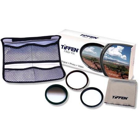 Tiffen Digital Pro SLR Filter Kit Digital Ultra Clear Color Grad ND Pro Mist Filters Micro Fiber Cle 215 - 124