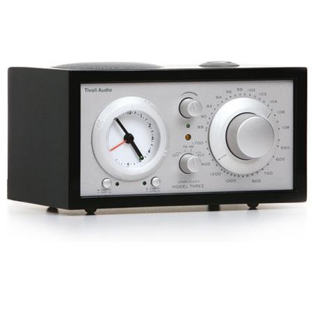 Tivoli Audio Platinum Series Model Three MPIANO AMFM Clock Radio PianoSilver 163 - 758