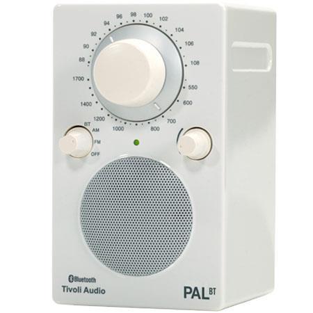 Tivoli Audio PAL BT PALBTGR Bluetooth Portable AMFM Radio GlossyWhite 94 - 706