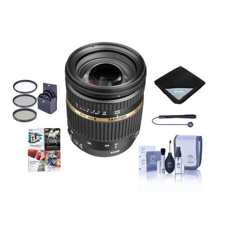 Tamron SP AF f XR DI II VC Vibration Compensation Lens Kit for Canon EOS Tiffen UV Wide Angle Filter 286 - 13