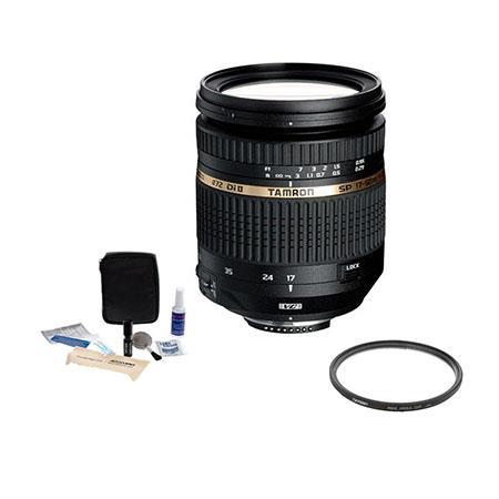 Tamron SP AF f XR DI II VC Vibration Compensation Lens Kit for Nikon Digital SLR Cameras Tiffen UV W 101 - 430