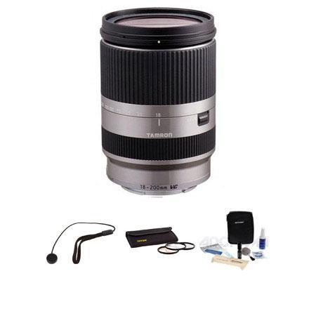 Tamron f XR DI III VC B Macro Lens Sony E mount NEX Series Cameras Silver USA Warranty Bundle Tiffen 84 - 62