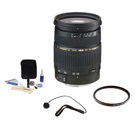 Tamron SP f XR Di LD IF Af Canon EOS Mount Lens Kit USA Warranty Tiffen UV Filter Lens Cap Leash Pro 76 - 699