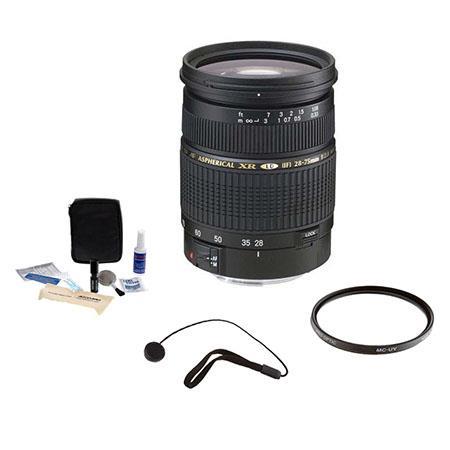Tamron SP f XR Di LD IF PentaAF Mount Lens Kit Tiffen UV Filter Lens Cap Leash Professional Lens Cle 81 - 558