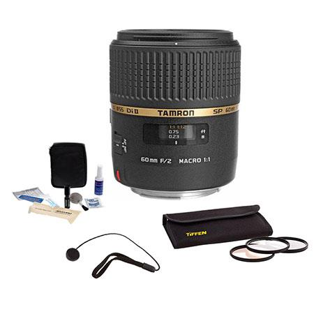 Tamron SP f Di Macro AF Lens Kit Canon EOS Year USA Warranty Tiffen Photo Essentials Filter Kit Lens 29 - 610