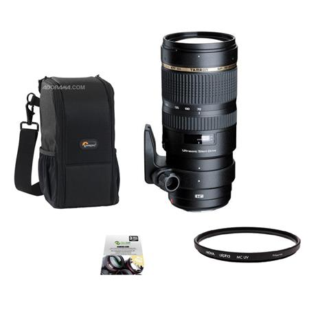 Tamron f DI VC USD Zoom Lens Nikon DSLR USA Year Warranty Bundle Hoya Alpha UV Glass filter New Leaf 176 - 44