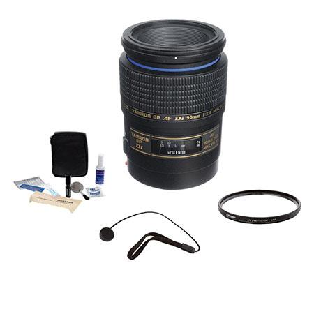 Tamron SP f Di AF Macro AF Lens Kit Canon EOS Year USA Warranty Tiffen UV Filter Lens Cap Leash Prof 43 - 580