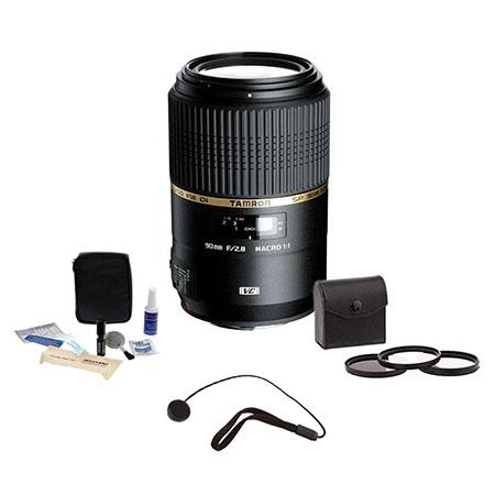 Tamron SP f Di VC USD AF Macro Canon EOS Year USA Warranty Bundle Pro Optic Digital Essentials Filte 116 - 645