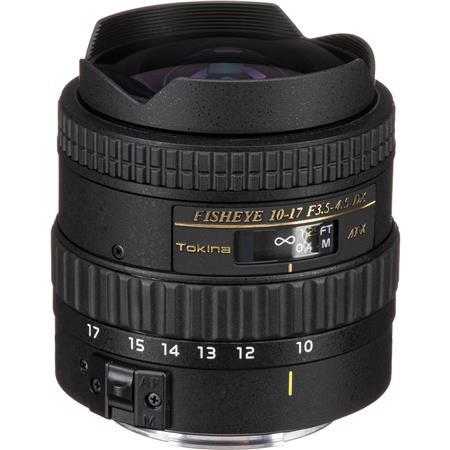 Tokina F DX Autofocus Fisheye Zoom Lens Canon EOS Digital SLR Cameras Built Hood 46 - 796