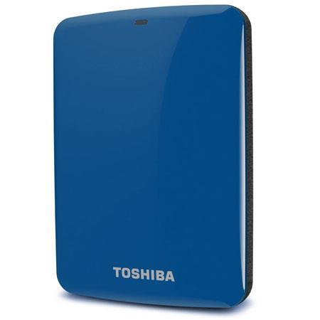 Toshiba Canvio Connect TB Portable External Network Hard Drive USB RPM Blue 132 - 5