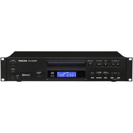 Tascam CD BT Rackmount CD Player Bluetooth Receiver Ohms Output Impedance Stereo Auxiliary Input 71 - 388