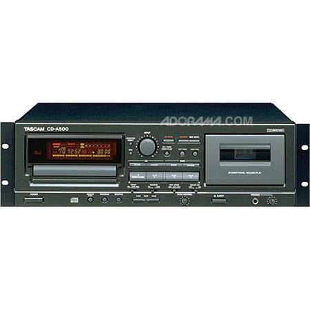 Tascam CD A Rackmount CD PlayerCassette Recorder Analog RCA IO connectors Pitch Controls 113 - 355