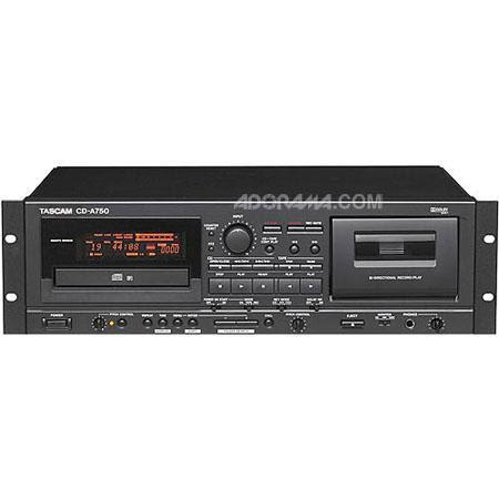 Tascam CD A Rackmount CD PlayerCassette Recorder Analog XLR and RCA IO connectors Pitch Controls 217 - 543