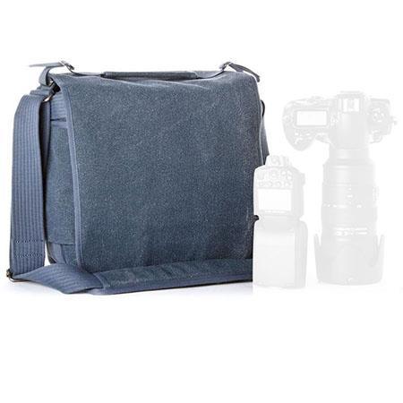 Think Tank Retrospective BL Tall Shoulder Bag Blue Slate Cotton Canvas 231 - 60