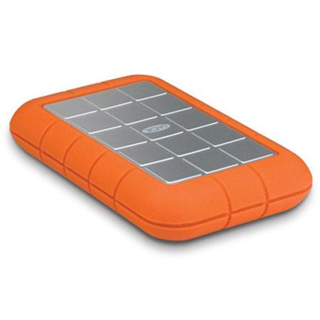 LaCie TB Rugged Triple Interface USB Portable Hard Drive FireWire and rpm Disk Speed Upto MBs Data T 190 - 156