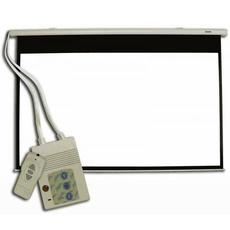 Sima SMS DiagonalWall or Ceiling Motorized Front Projection Screen Grey 46 - 790