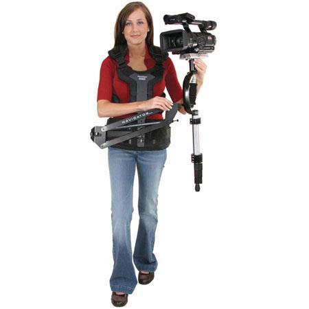 VariZoom Navigator Full Size Stabilizing Arm Vest use Flow Pod or Glidecam Cameras up to lbs 72 - 614