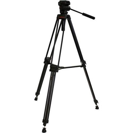 VariZoom VZ TK Stage Aluminum Tripod Ball Leveling Fluid Head Supports lbs MaHeight  176 - 99