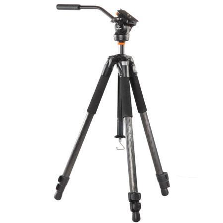 Vanguard Abeo CV Video Tripod PH V Way Video Pan Head lbs Load Capacity Extended Height 17 - 403