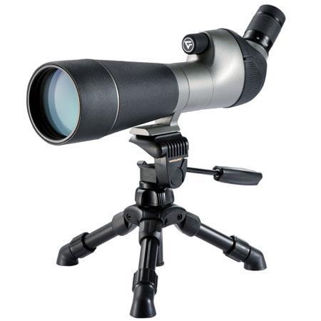 Vanguard High Plains BaKSpotting Scope Kit Angled Eyepiece Tabletop Tripod Protective Hard Case Soft 0 - 754