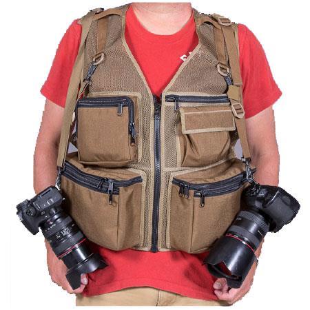 The Vest Guy MM Travel Photography Vest Medium Coyote Mesh 27 - 271