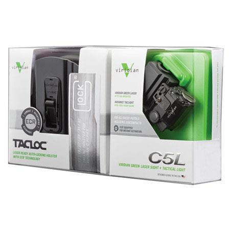 Viridian CL Laser Lumen Tactical Light and TacLoc Holster Glock  128 - 474