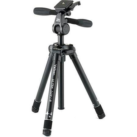 Velbon Ultra LUXi M Tripod Way PanTilt Head Case Height Maximum Load lbs 45 - 595