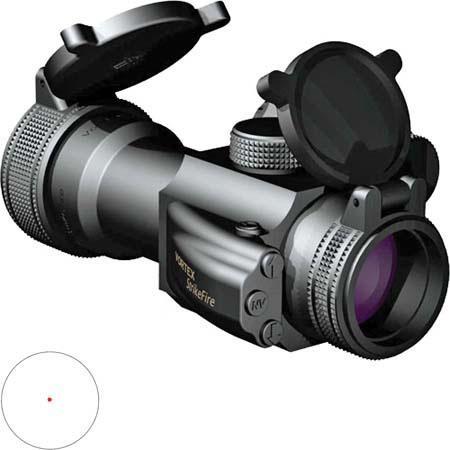 VorteOpticsmm StrikeFire Dot AR Rifle Scope Matte MOA Illuminated or Dot Reticle 184 - 343