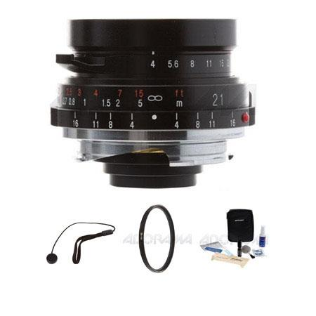 Voigtlander Color Skopar f Pancake Lens Leica M Mount Bundle B W UV Ultra Violet Haze Glass Filter L 219 - 657