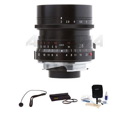 Voigtlander Ultron f Lens Leica M Mount Bundle Tiffen Photo Essentials Filter Kit Lens Cap Leash Pro 100 - 174