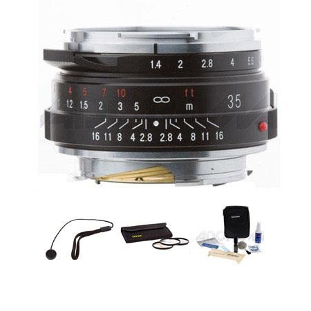 Voigtlander Nokton f Wide Angle Leica M Mount Lens Bundle Tiffen Filter Kit Lens Cap Leash Professio 100 - 174
