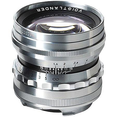 Voigtlander M f Nokton Aspherical Lens Leica M Mount Lens Silver 116 - 494