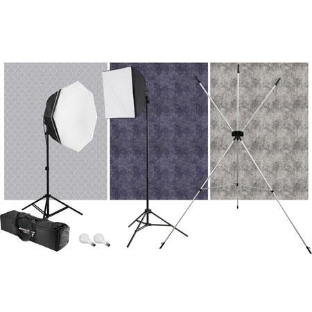 Westcott uLite Light watt Photoflood Kit X Drop Stand and Backdrops 66 - 746