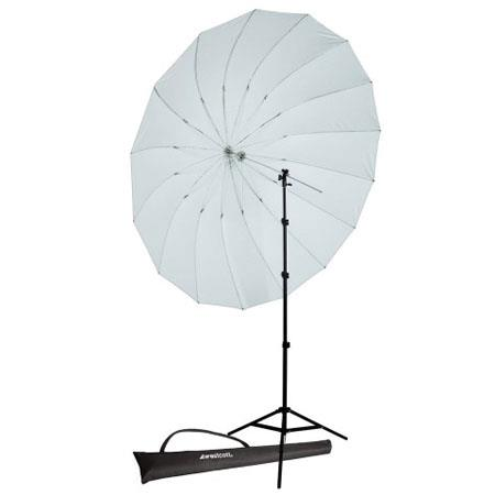 Westcott foot Diffusion Parabolic Umbrella Speedlite Kit Adjustable Shoe Mount Bracket Travel Case f 38 - 617