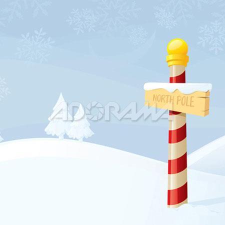 Westcott Photo BasicsNorth Pole Winter Scenic Cotton Muslin Background  183 - 525