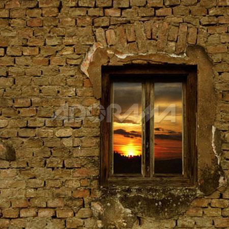 Westcott Photo BasicsSunset Window Old Wood Window Scenic Cotton Muslin Background  183 - 525