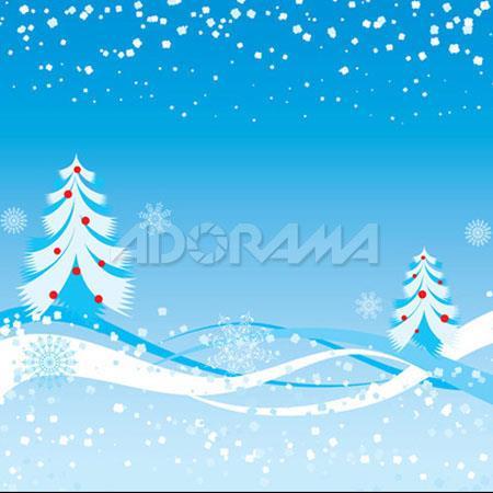Westcott Photo BasicsWonderland Winter Landscape Christmas Tree Scenic Cotton Muslin Background  108 - 6