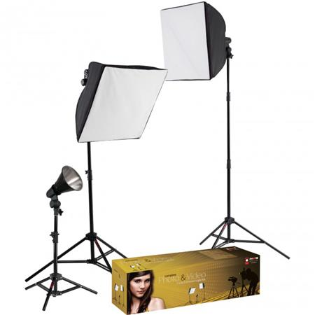 Westcott Photo Basics uLite Three Light Kit Constant Output uLites Softboxes Stands Bulbs Accessorie 305 - 585