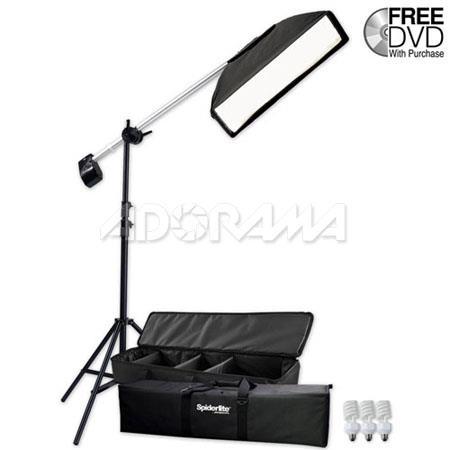 Westcott Spiderlite TD Hairlight Kit Spiderlite Fluorescent Lamps SoftboBoom Stand 148 - 330